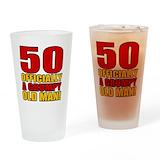 50th birthday man Pint Glasses