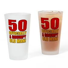 GrumpyOldMan50 Drinking Glass