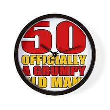 GrumpyOldMan50 Wall Clock