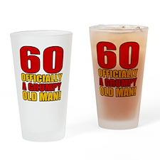 GrumpyOldMan60 Drinking Glass