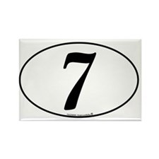 racing-numbers-classic-white-oval Rectangle Magnet