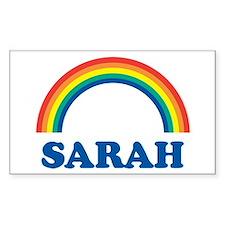 SARAH (rainbow) Rectangle Bumper Stickers