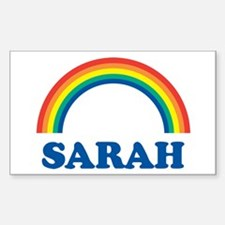 SARAH (rainbow) Rectangle Decal