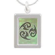 035-Frantic Silver Portrait Necklace