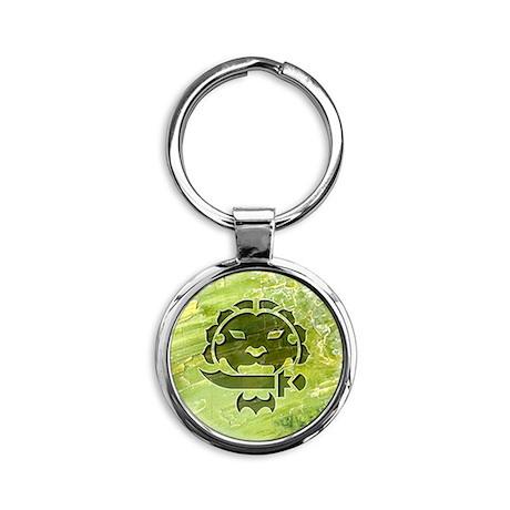 044-StrongSpirit Round Keychain