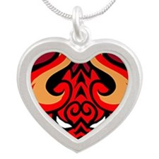 242-TinPinIfrit Silver Heart Necklace