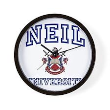 NEIL University Wall Clock