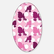 pink_Poodle_ipad Sticker (Oval)