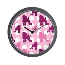 pink_Poodle_ipad Wall Clock