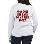Back of my Sled Women's Long Sleeve T-Shirt
