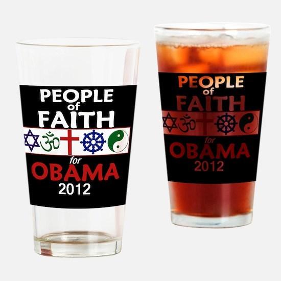 Obama Faith 2012 Drinking Glass