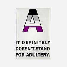 A for Asexuality Rectangle Magnet