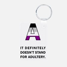 A for Asexuality Keychains