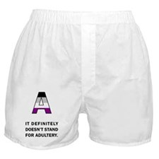 A for Asexuality Boxer Shorts