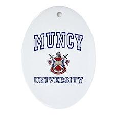 MUNCY University Oval Ornament