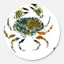 crabmoreblue Round Car Magnet