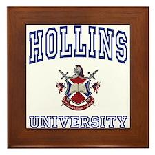 HOLLINS University Framed Tile