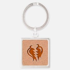 043-StrongHeart Square Keychain
