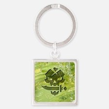 048-PoisonSkull Square Keychain
