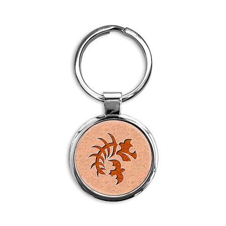 047-PoisonScorpion Round Keychain