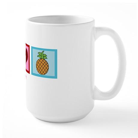 peacelovepineapplewh Large Mug