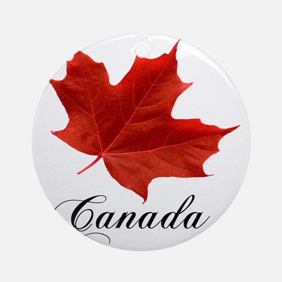 O-Canada-MapleLeaf-Ottawa-4-blackLe Round Ornament
