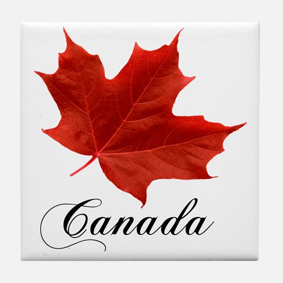 O-Canada-MapleLeaf-Ottawa-4-blackLett Tile Coaster