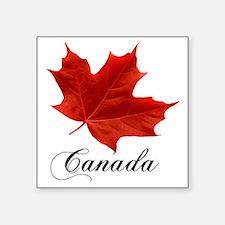 "O-Canada-MapleLeaf-Ottawa-4 Square Sticker 3"" x 3"""
