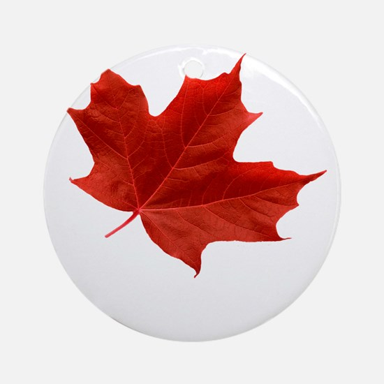 O-Canada-MapleLeaf-Ottawa-4-whiteLe Round Ornament