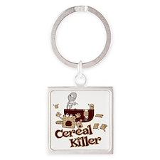 Cereal Killer Square Keychain