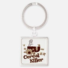 Cereal Killer Square Keychain