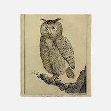 Big eared Owl Throw Blanket