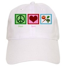 peacelovevegetarianwh Baseball Cap