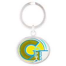 Gilberto emblem Oval Keychain