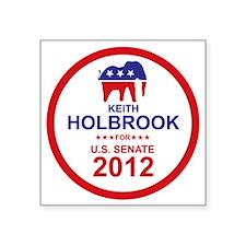 "2012_keith_holbrook_main Square Sticker 3"" x 3"""