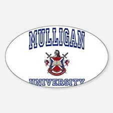 MULLIGAN University Oval Decal