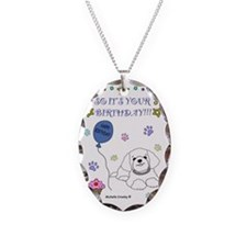ShihTzuWt Necklace Oval Charm