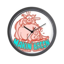 makinbacon2_white Wall Clock