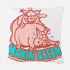 makinbacon2_white Woven Throw Pillow