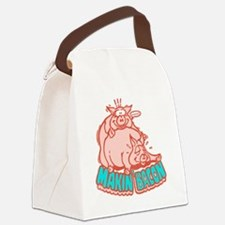 makinbacon2_white Canvas Lunch Bag