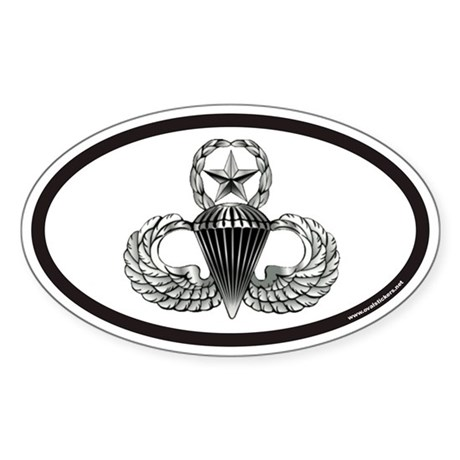 Jump Master Wings Oval Sticker