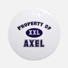 Property of axel Ornament (Round)