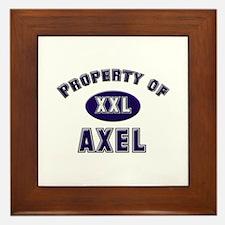 Property of axel Framed Tile