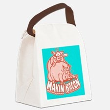 makinbacon2_button Canvas Lunch Bag