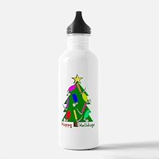 RT Happy Holidays Chri Water Bottle