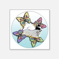 """Agility Papillon Square Sticker 3"""" x 3"""""""