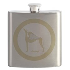 LOVEY ANGEL GREY GOLD RIM ROUND ORNAMENT TEM Flask