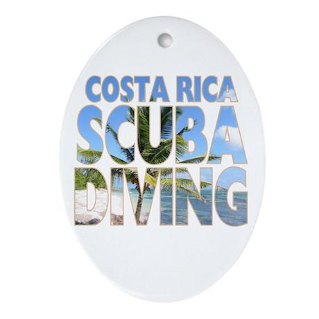 Costa Rica Scuba Diving Oval Ornament