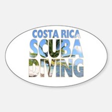 Costa Rica Scuba Diving Oval Decal