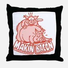 makinbacon2_tran Throw Pillow